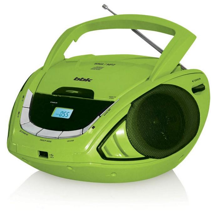Аудиомагнитола BBK BX190U Black/Green