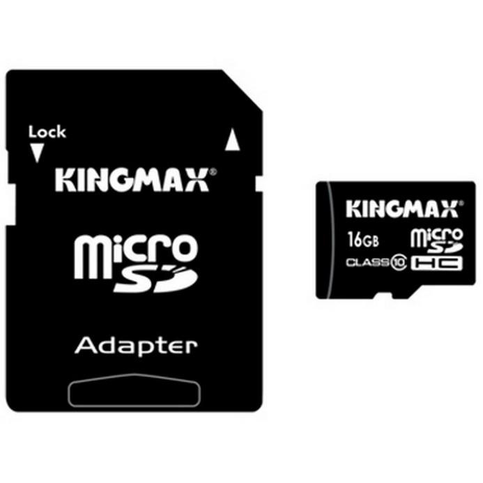 Карта памяти KINGMAX Micro SDHC 16Гб Class10
