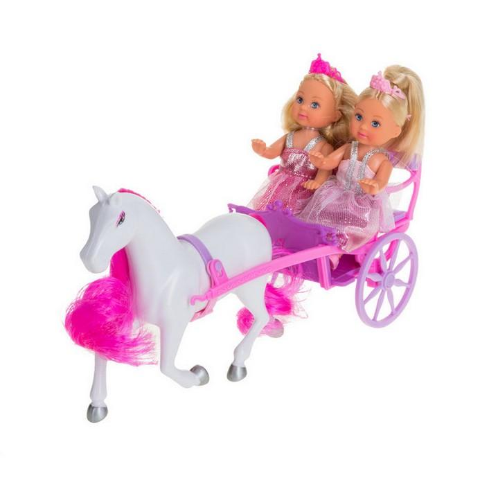 Игровой набор Simba Две Evi-принцессы и лошадь с каретой