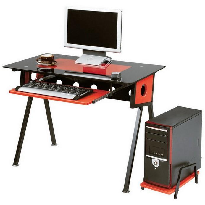Стол Триал MOS-S1229 Черный/Красный