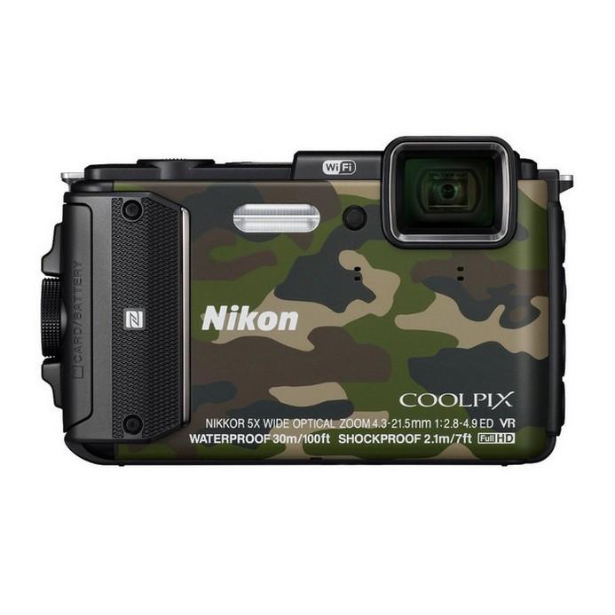 Компактный фотоаппарат Nikon Coolpix AW130 камуфляж