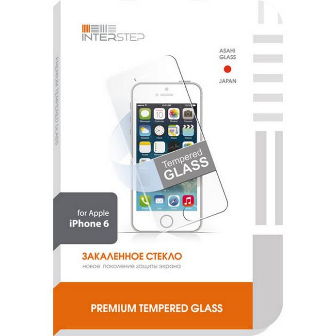 Защитное стекло InterStep для iPhone 6 (IS-TG-IPHONE647-000B201)