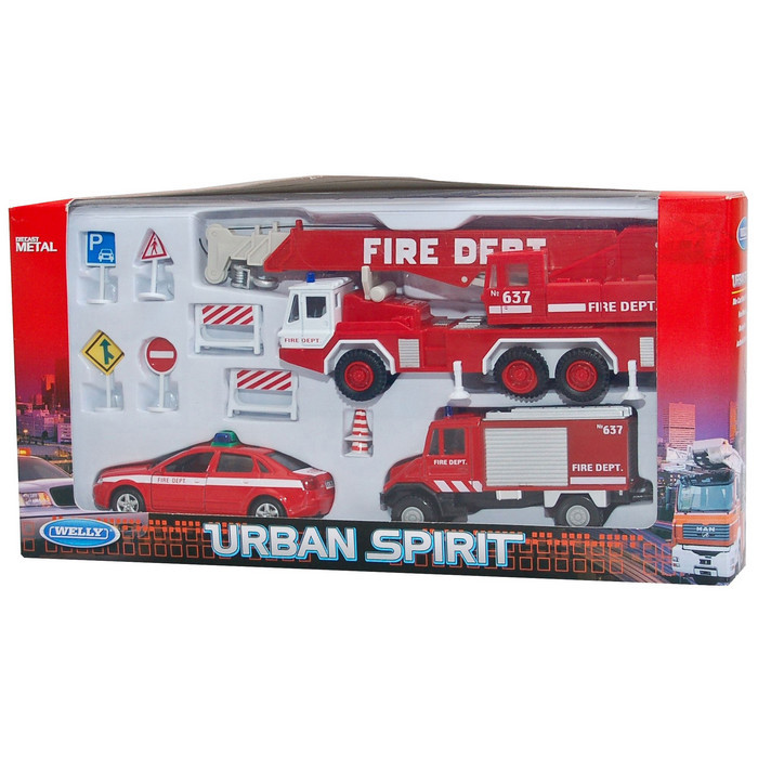 Игровой набор Welly Пожарная служба (99610-10B)